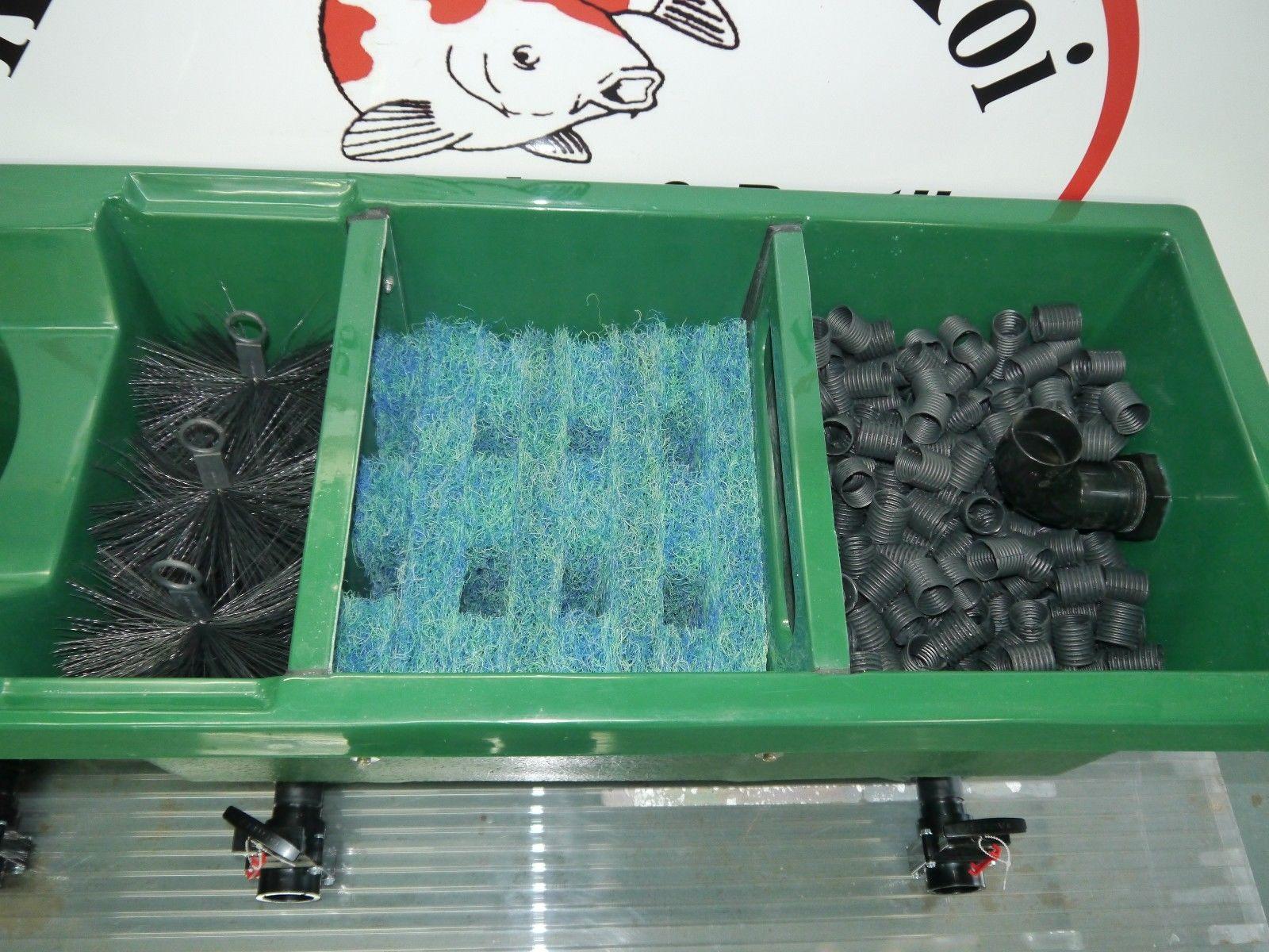 Klk 6000 multi chamber koi pond filter vortex pump feed for Koi filtration